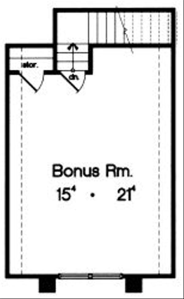 European Floor Plan - Upper Floor Plan #417-233
