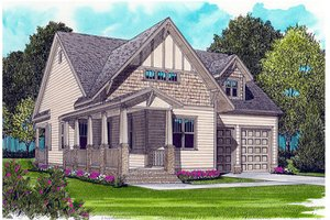 Victorian Exterior - Front Elevation Plan #413-787