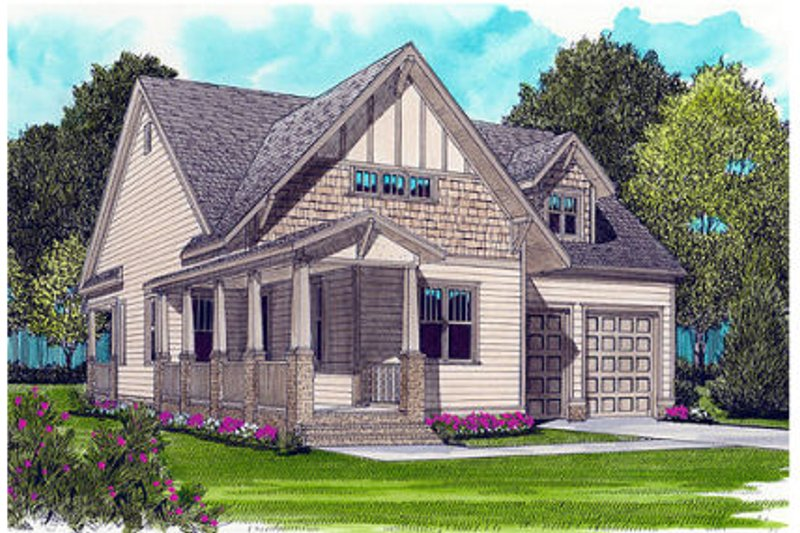 Dream House Plan - Victorian Exterior - Front Elevation Plan #413-787