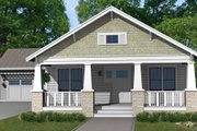 Craftsman Style House Plan - 3 Beds 2 Baths 1563 Sq/Ft Plan #461-13 Exterior - Front Elevation
