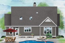 Farmhouse Exterior - Rear Elevation Plan #929-1095