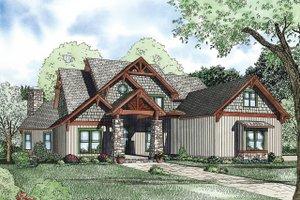 Craftsman Exterior - Front Elevation Plan #17-2377