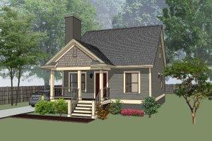 Cottage Exterior - Front Elevation Plan #79-140