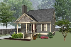 House Design - Cottage Exterior - Front Elevation Plan #79-140