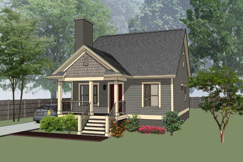 House Plan Design - Cottage Exterior - Front Elevation Plan #79-140