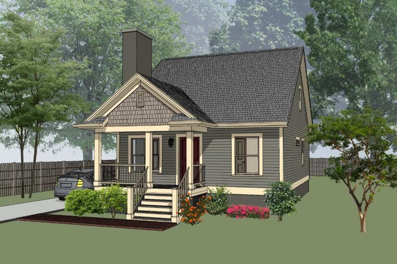 Cottage Exterior - Front Elevation Plan #79-140