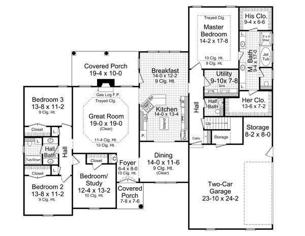 Traditional Floor Plan - Main Floor Plan Plan #21-210