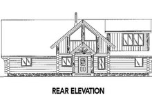 Log Exterior - Rear Elevation Plan #117-416