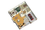 European Style House Plan - 2 Beds 1 Baths 1400 Sq/Ft Plan #25-4651 Floor Plan - Main Floor Plan