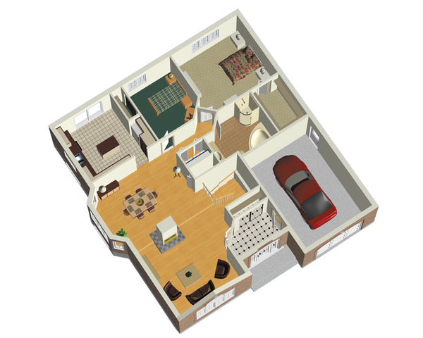 European Floor Plan - Main Floor Plan Plan #25-4651