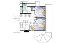Country Floor Plan - Upper Floor Plan Plan #23-2042