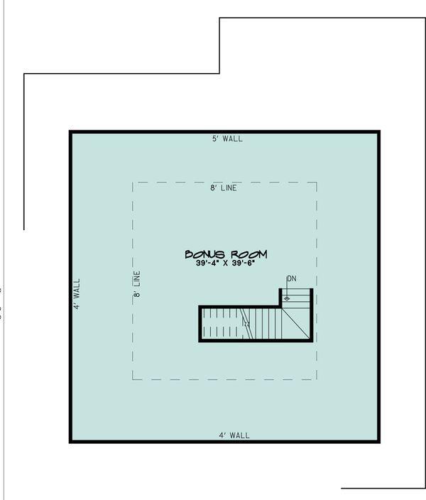 Southern Floor Plan - Upper Floor Plan #923-84