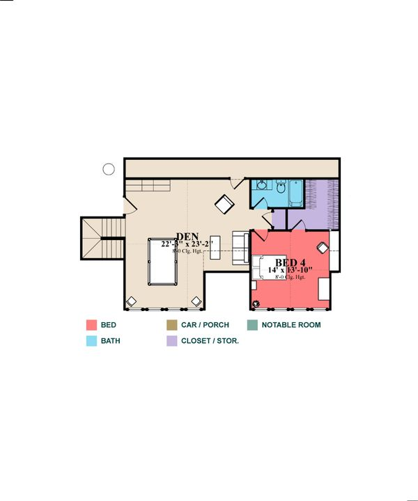 Craftsman Floor Plan - Upper Floor Plan Plan #63-371
