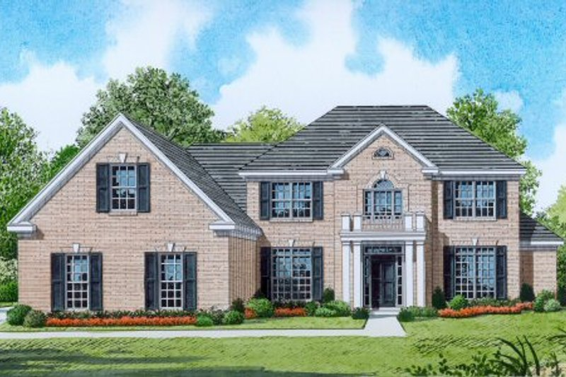 Traditional Style House Plan - 5 Beds 3.5 Baths 3054 Sq/Ft Plan #424-370 Exterior - Front Elevation