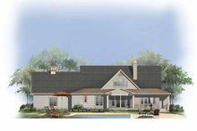 House Plan Design - Country Exterior - Rear Elevation Plan #929-806
