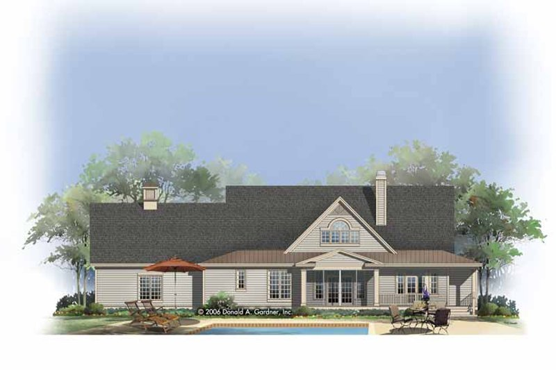 Country Exterior - Rear Elevation Plan #929-806 - Houseplans.com