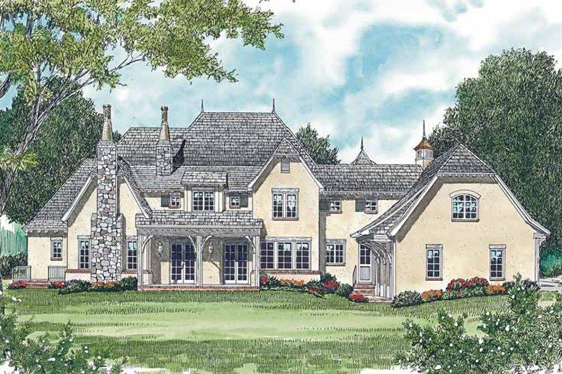 Country Exterior - Rear Elevation Plan #453-468 - Houseplans.com