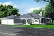 Adobe / Southwestern Style House Plan - 3 Beds 2.5 Baths 2975 Sq/Ft Plan #1-735 Exterior - Front Elevation
