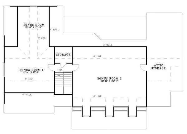 Southern Floor Plan - Upper Floor Plan Plan #17-2149