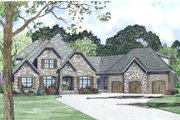 European Style House Plan - 4 Beds 3.5 Baths 3752 Sq/Ft Plan #17-2498