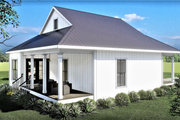 Traditional Style House Plan - 2 Beds 1 Baths 890 Sq/Ft Plan #44-223 Exterior - Rear Elevation