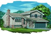 Traditional Style House Plan - 3 Beds 1.5 Baths 1211 Sq/Ft Plan #47-129 Exterior - Front Elevation