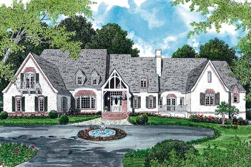 Architectural House Design - Country Exterior - Front Elevation Plan #453-152
