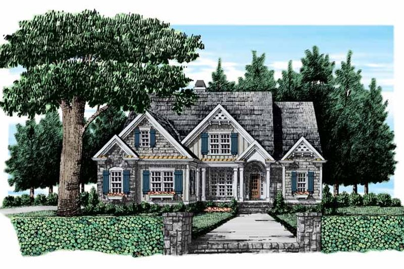Country Exterior - Front Elevation Plan #927-308