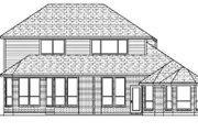 European Style House Plan - 4 Beds 3 Baths 2727 Sq/Ft Plan #84-338 Exterior - Rear Elevation