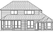 European Style House Plan - 4 Beds 3 Baths 2727 Sq/Ft Plan #84-338 Exterior - Rear Elevation