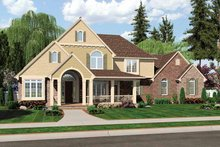 Country Exterior - Front Elevation Plan #46-804
