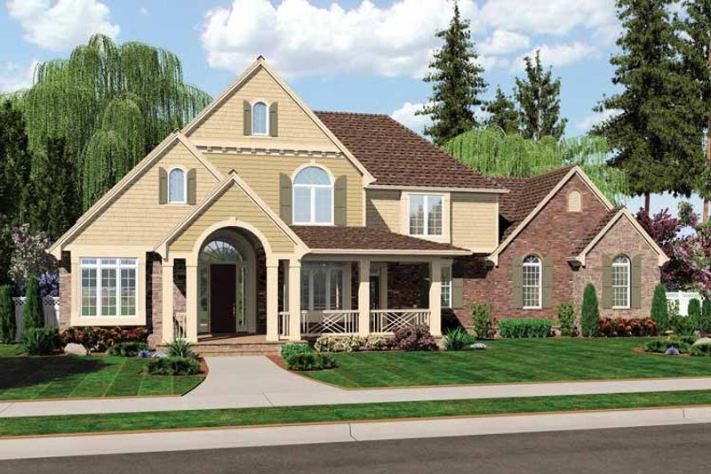 Country Exterior - Front Elevation Plan #46-804 - Houseplans.com