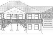 Ranch Style House Plan - 5 Beds 4 Baths 5296 Sq/Ft Plan #1060-21 Exterior - Front Elevation