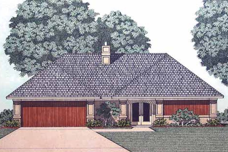 Traditional Exterior - Front Elevation Plan #45-406