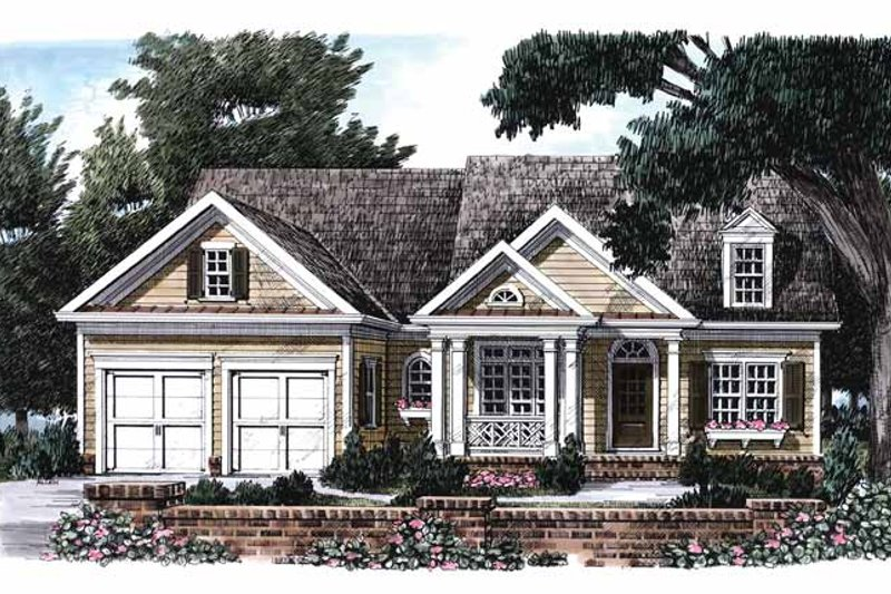 Colonial Exterior - Front Elevation Plan #927-669
