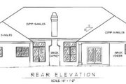 Traditional Style House Plan - 5 Beds 3.5 Baths 3366 Sq/Ft Plan #11-103 Exterior - Rear Elevation