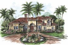 Mediterranean Exterior - Front Elevation Plan #1017-58