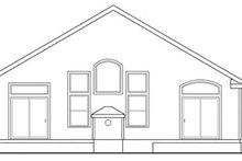 Craftsman Exterior - Rear Elevation Plan #124-783