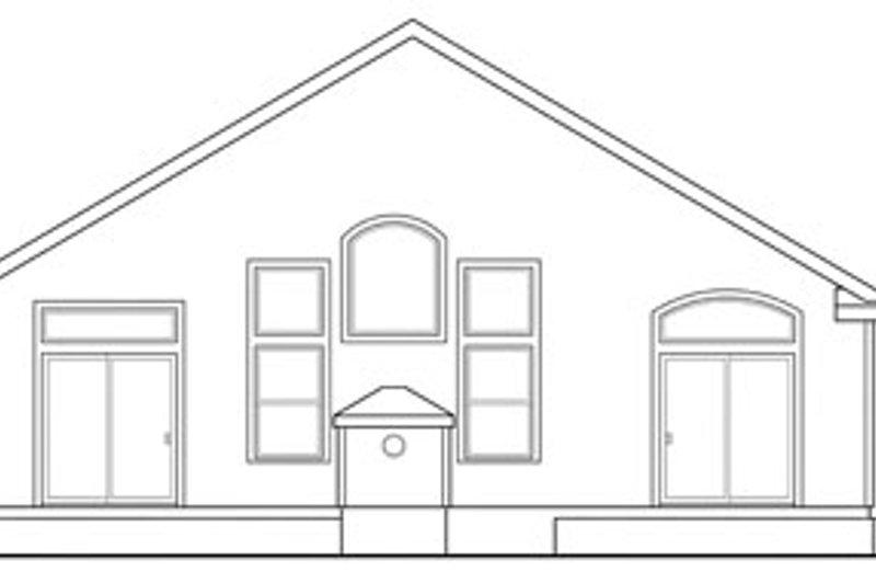 Craftsman Exterior - Rear Elevation Plan #124-783 - Houseplans.com
