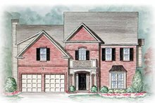 Architectural House Design - Country Exterior - Front Elevation Plan #54-240