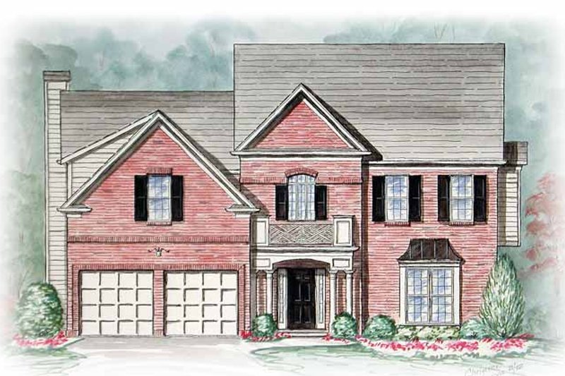 Country Exterior - Front Elevation Plan #54-240