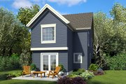 Craftsman Style House Plan - 3 Beds 2.5 Baths 1475 Sq/Ft Plan #48-937 Exterior - Rear Elevation