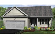 Ranch Style House Plan - 2 Beds 2 Baths 1167 Sq/Ft Plan #1010-1 Exterior - Front Elevation