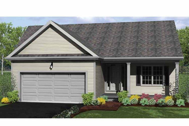 Ranch Exterior - Front Elevation Plan #1010-1 - Houseplans.com
