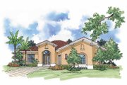 Mediterranean Style House Plan - 2 Beds 2 Baths 1727 Sq/Ft Plan #930-393 Exterior - Front Elevation