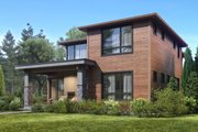Contemporary Style House Plan - 4 Beds 3.5 Baths 3150 Sq/Ft Plan #1066-50 Exterior - Rear Elevation