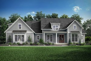Dream House Plan - Farmhouse Exterior - Front Elevation Plan #1067-4