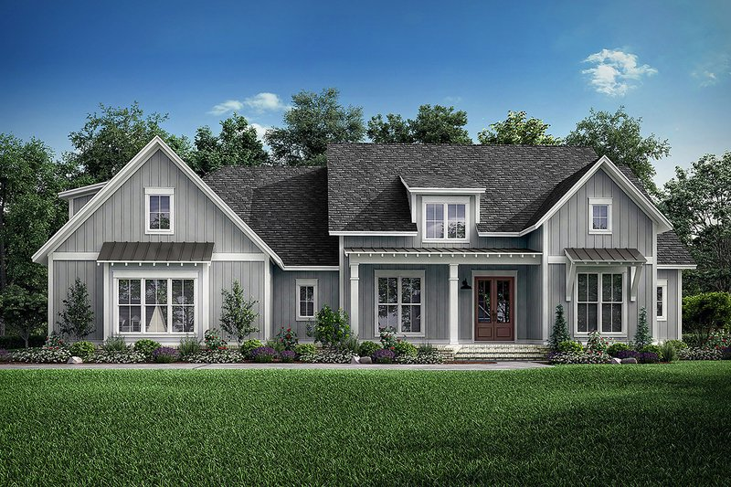Farmhouse Style House Plan - 4 Beds 3.5 Baths 2875 Sq/Ft Plan #1067-4 Exterior - Front Elevation