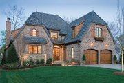 European Style House Plan - 3 Beds 4 Baths 3359 Sq/Ft Plan #453-56 Exterior - Front Elevation