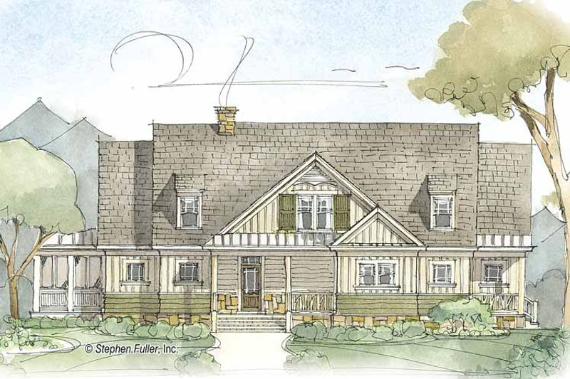 Country Exterior - Front Elevation Plan #429-379 - Houseplans.com